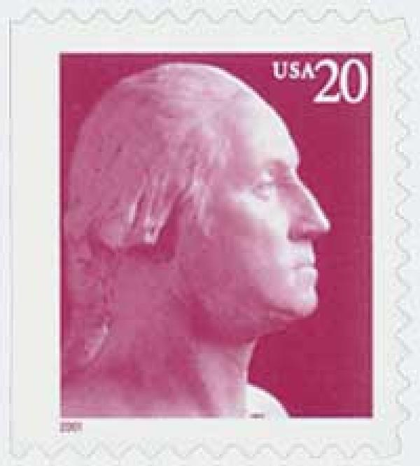 2001 20c George Washington, vending booklet single