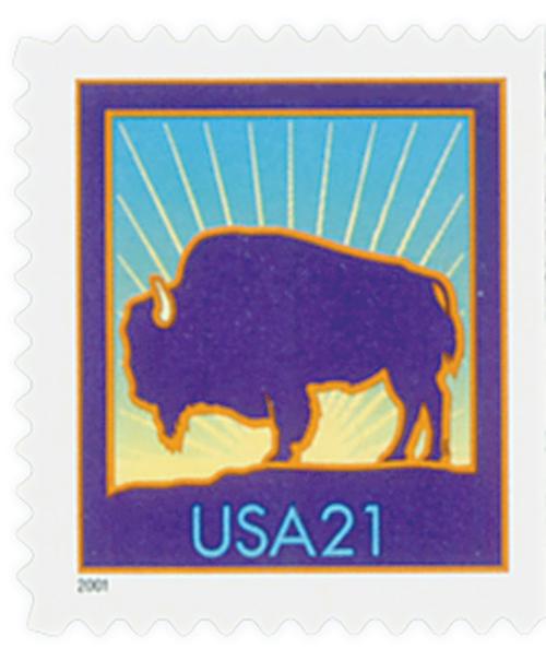 2001 21c Bison, 11 1/4 perf