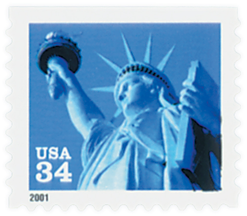 2001 34c Statue of Liberty, booklet single