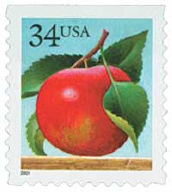 2001 34c Apple, booklet single