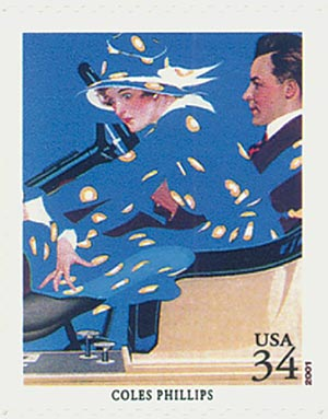 2001 34c American Illustrator Coles Phillips