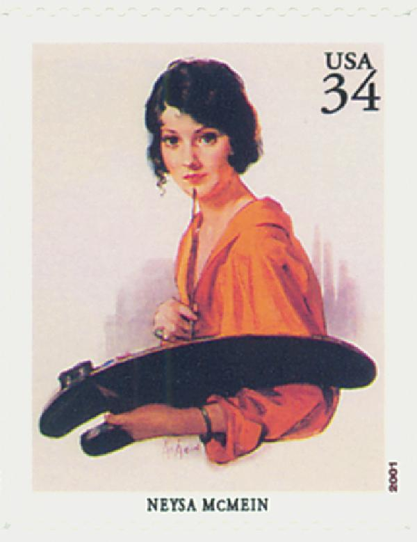 2001 34c American Illustrator Neysa McMein