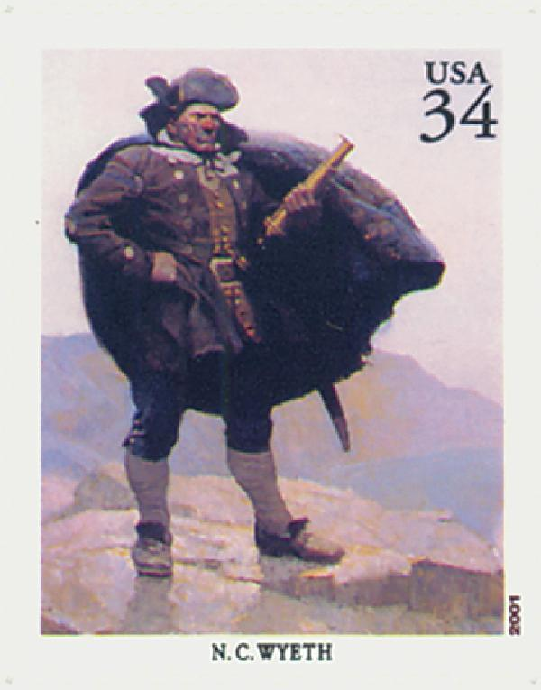 2004 34c American Illustrator N. C. Wyeth