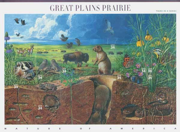 2001 34c Nature of America: Great Plains Prairie