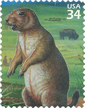 2001 34c Great Plains Prairie: Black-tailed Prairie Dog