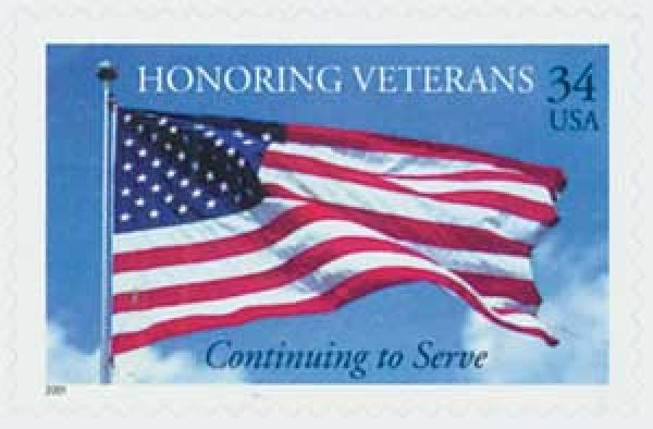 2001 34c Honoring Veterans