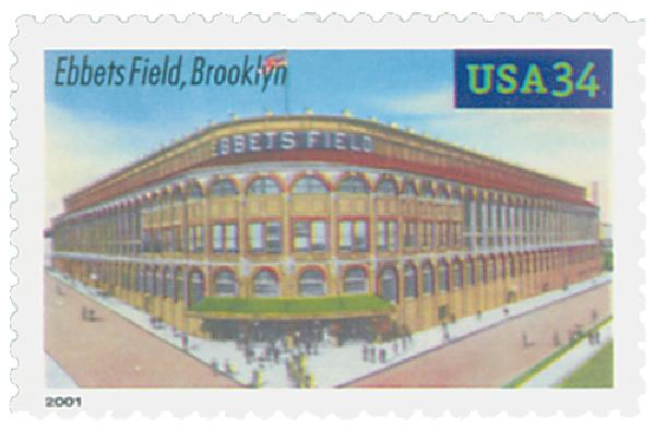 2001 34c Legendary Baseball Fields: Ebbets Field
