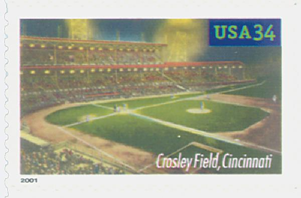 2001 34c Legendary Baseball Fields: Crosley Field
