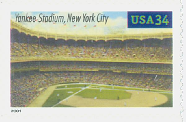 2001 34c Legendary Baseball Fields: Yankee Stadium