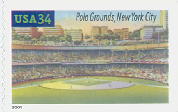 2001 34c Legendary Baseball Fields: Polo Grounds