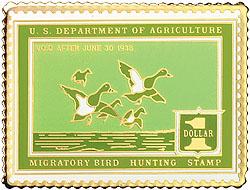 1996 1937 Federal Duck Cloisonne Medallion