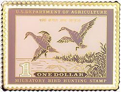 1996 1938 Federal Duck Cloisonne Medallion