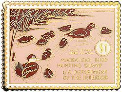 1996 1941 Federal Duck Cloisonne Medallion