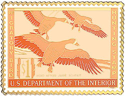 1996 1944 Federal Duck Cloisonne Medallion