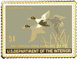1996 1945 Federal Duck Cloisonne Medallion