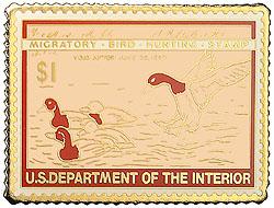 1996 1946 Federal Duck Cloisonne Medallion