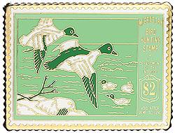 1996 1949 Federal Duck Cloisonne Medallion