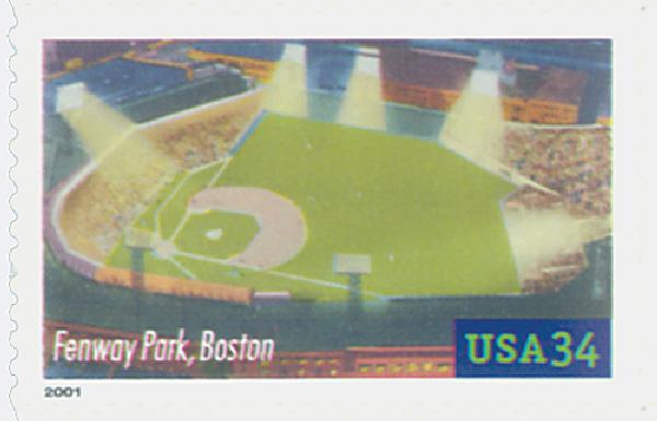 2001 34c Legendary Baseball Fields: Fenway Park