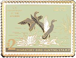 1996 1951 Federal Duck Cloisonne Medallion