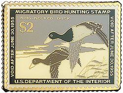 1996 1954 Federal Duck Cloisonne Medallion