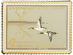 1996 1956 Federal Duck Cloisonne Medallion