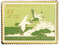 1996 1957 Federal Duck Cloisonne Medallion