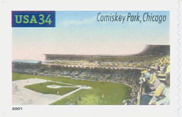 2001 34c Legendary Baseball Fields: Comiskey Park