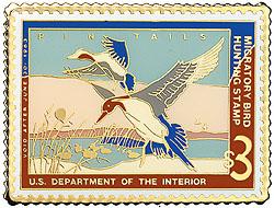 1996 1962 Federal Duck Cloisonne Medallion