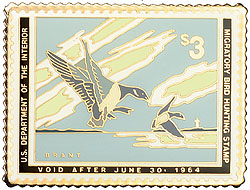 1996 1963 Federal Duck Cloisonne Medallion