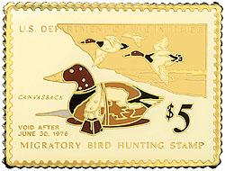 1996 1975 Federal Duck Cloisonne Medallion