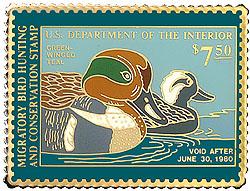 1996 1979 Federal Duck Cloisonne Medallion