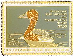1996 1986 Federal Duck Cloisonne Medallion
