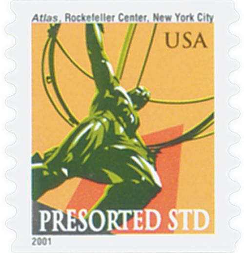 2001 10c Atlas Statue, coil