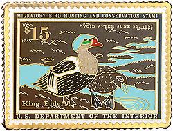 1996 1991 Federal Duck Cloisonne Medallion