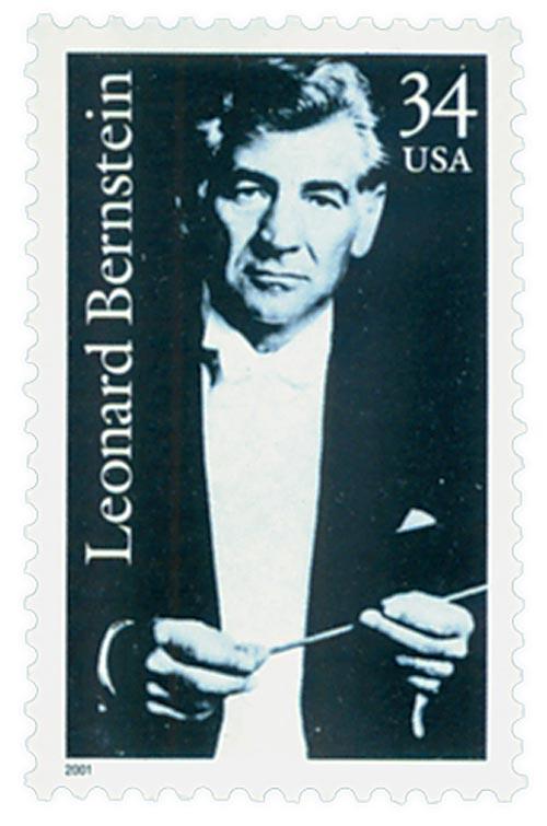 2001 34c Leonard Bernstein