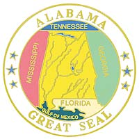 1995 Great Seals of the 50 States: Alabama Medallion