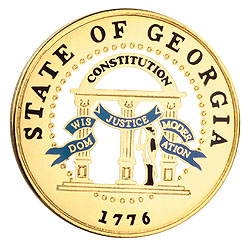 1995 Great Seals of the 50 States: Georgia Medallion