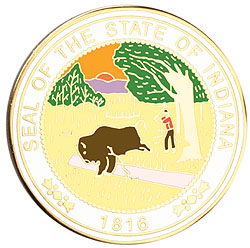 1995 Great Seals of the 50 States: Indiana Medallion