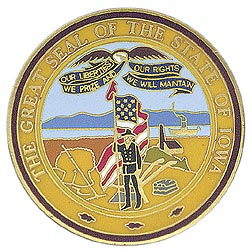 1995 Great Seals of the 50 States: Iowa Medallion