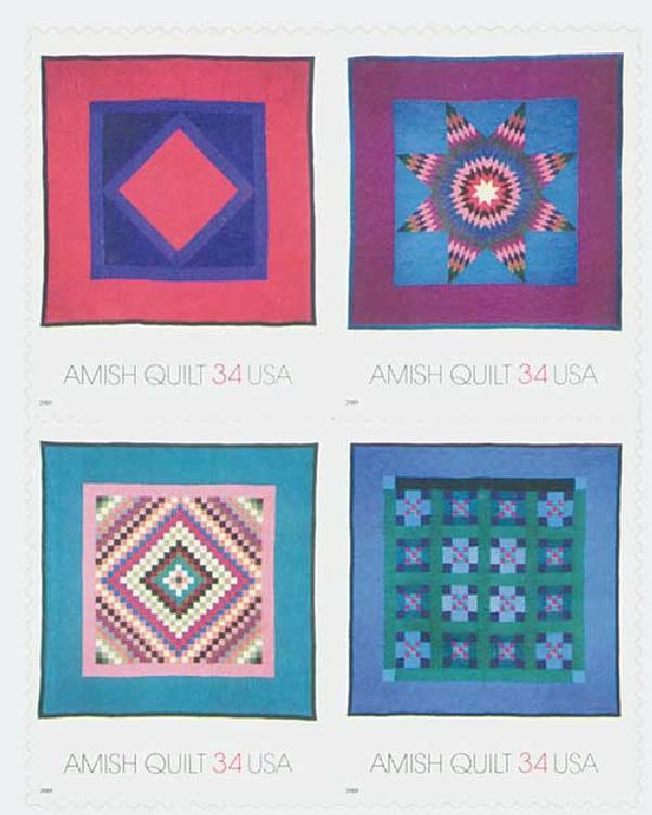 2001 34c Amish Quilts