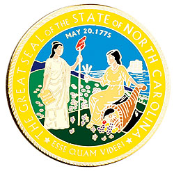 1995 Great Seals of the 50 States: North Carolina Medallion