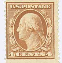 1909 4c Washington, orange brown