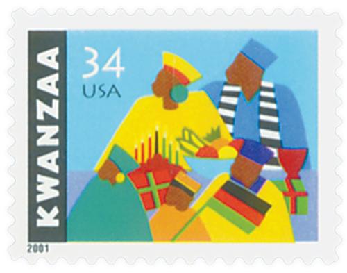 2001 34c Kwanzaa