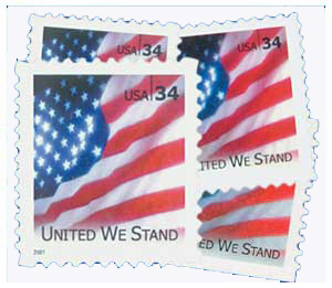 2001-02 United We Stand, collection of 4 stamps