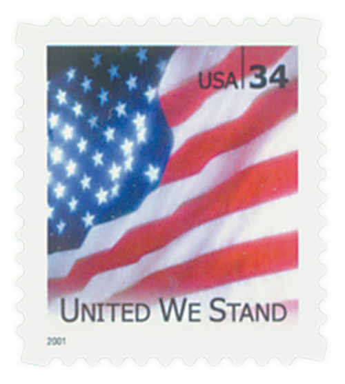 2001 34c United We Stand, booklet single