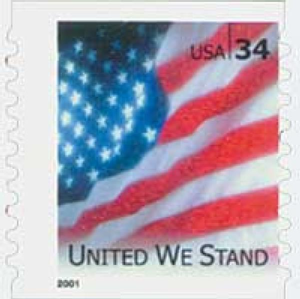 2001 34c United We Stand coil stamp