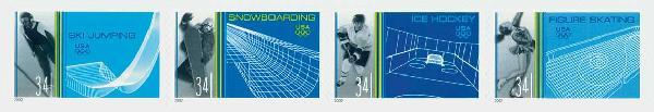 2002 34c Winter Olympics, 4v