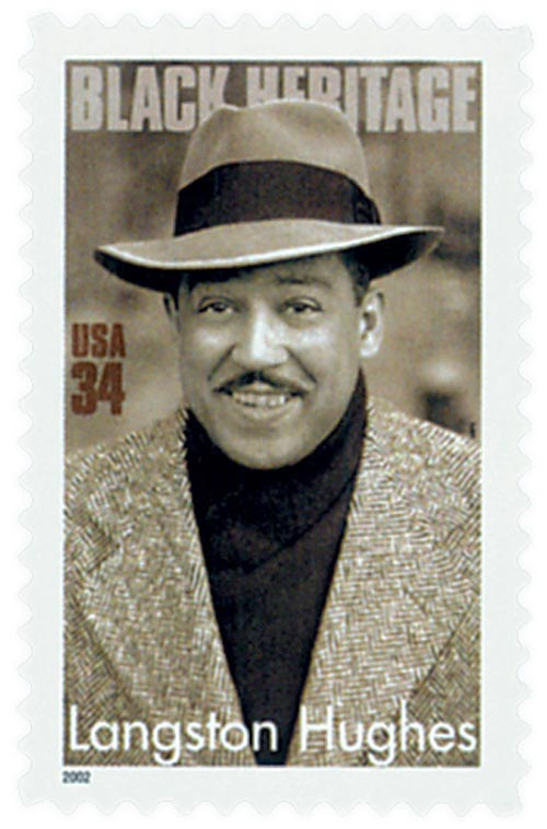 2002 34c Black Heritage: Langston Hughes