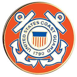 1996 Coast Guard Insignia Medallion in Pouch