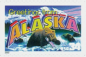 2002 34c Greetings From America: Alaska
